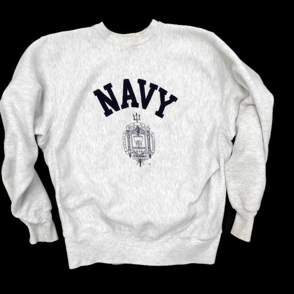 new product 7ab55 e9983 Vintage MV Sport US Naval Academy Gray Sweatshirt